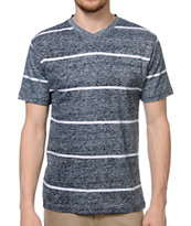 Empyre Ink Jet Black Striped Knit Tee Shirt