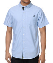 Dravus Datsik Blue Oxford Woven Button Up Shirt