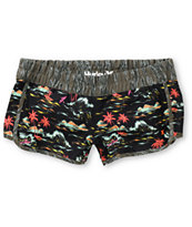 Hurley Girls Black Flamo Super Suede Beachrider Board Shorts