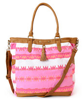 Hurley Girls One & Only Pink Book Tote Bag