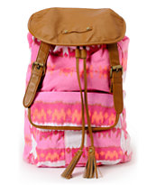 Hurley Girls One And Only Pink & Orange Backpack