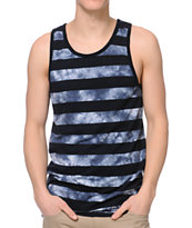 Empyre Likestripes Black & Tie Dye Tank Top