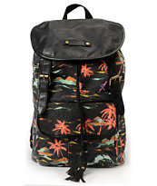 Hurley Girls One And Only Black Flam Backpack