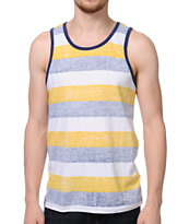 Empyre Bangin Yellow & Black Stripe Tank Top