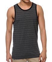 Empyre Sand Box Black Striped Tank Top