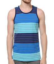 Zine Water Park Blue Stripe Tank Top