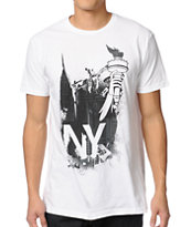 Local Legends Bomb NY White Tee Shirt