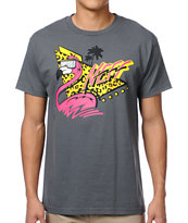 Neff Fingo Charcoal Tee Shirt