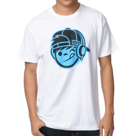 Neff DJ Kenny 2 White Tee Shirt