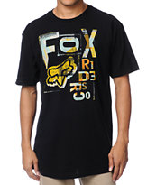 Fox Typo Black Tee Shirt