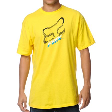Fox Cramped Yellow Tee Shirt