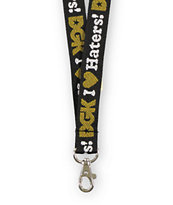 DGK I Love Haters Black & Gold Lanyard