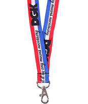 DGK By Any Means Red, White & Blue Lanyard