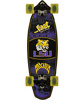 Lost Louisiana Tigers Rocket Mini 28 Cruiser Complete Skateboard