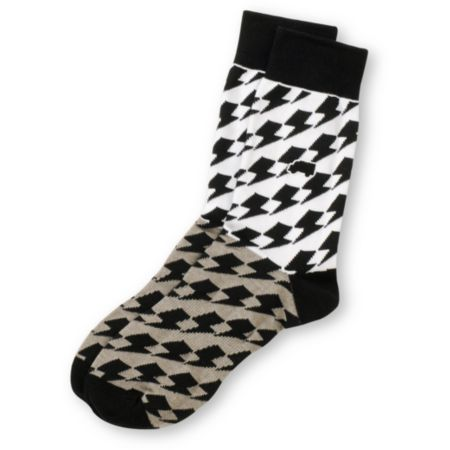 Trukfit Thunderbolt White & Grey Crew Socks
