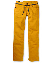Empyre Skeletor Mustard Yellow Slim Jeans