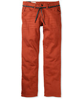 Empyre Skeletor Terracotta Red Slim Jeans