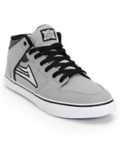 Lakai Carroll Select Grey & Black Canvas Skate Shoe