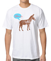 Enjoi Donkey White Tee Shirt