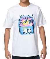 Enjoi Airbrushed White Tee Shirt