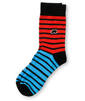 Trukfit Feeder Yarn Red & Blue Crew Socks