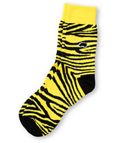 Trukfit Zebra Black & Yellow Crew Socks