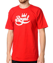 Royal Trucks Crown Script Red Tee Shirt