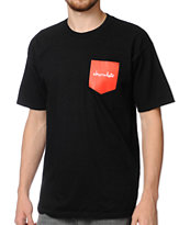 Chocolate Pocket Chunk Black Tee Shirt
