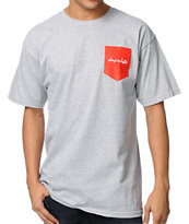 Chocolate Pocket Chunk Grey Tee Shirt