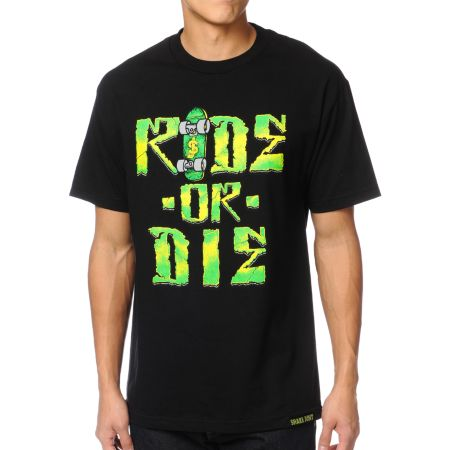 Shake Junt Ride Or Die Black Tee Shirt