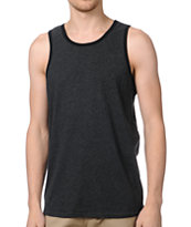 Zine Ringer Heather Black Tank Top