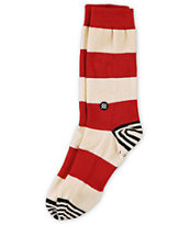 Stance Waldo Red & White Stripe Crew Socks
