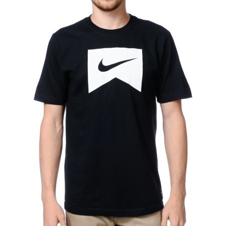 Nike Skateboarding Ribbon Icon Black Tee Shirt