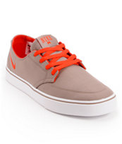 Nike Braata LR Taupe & Red Canvas Skate Shoe