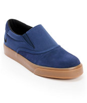 Nike Verona Midnight Navy & Gum Canvas Slip On Skate Shoe
