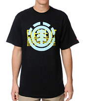 Element Dimensional Black Tee Shirt