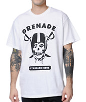 Grenade Game Time White Tee Shirt