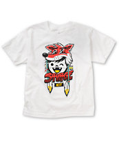 Neff Boys Savage White Tee Shirt