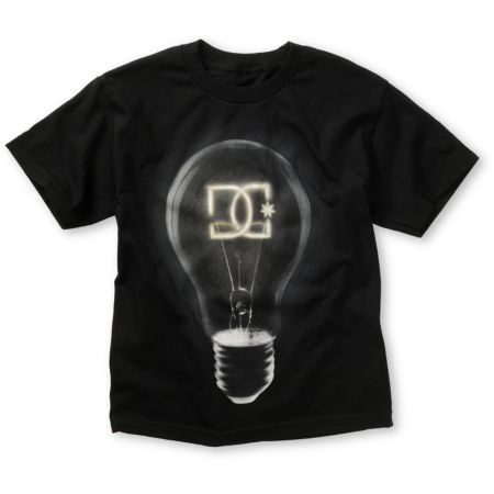 DC Boys Bright Idea Black Tee Shirt