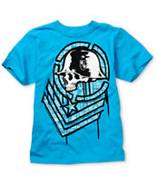 Metal Mulisha Boys Task Turquoise Tee Shirt