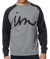 Imperial Motion The Curser Grey & Black Crew Neck Sweatshirt