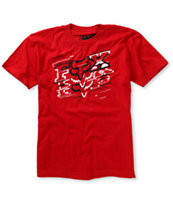 Fox Boys Hacker Red Tee Shirt