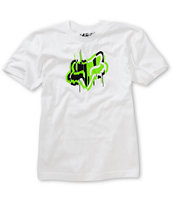 Fox Boys Last Minute White Tee Shirt
