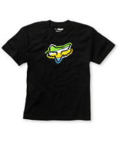 Fox Boys Hashed Black Tee Shirt