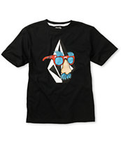 Volcom Boys Weirdo Black Tee Shirt