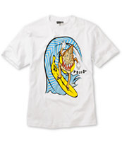 Volcom Boys Monkey Shacka White Tee Shirt
