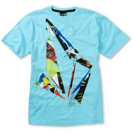 Volcom Boys Scrap Stone Blue Tee Shirt