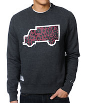 Trukfit Fill Up Cheetah Grey Crew Neck Sweatshirt