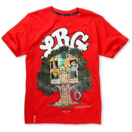 LRG Boys Treehouse Red Tee Shirt