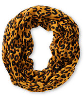D&Y Brown Cheetah Print Infinity Scarf